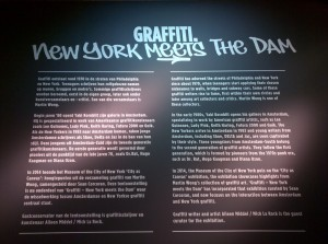 The start of an exhibition on graffiti culture