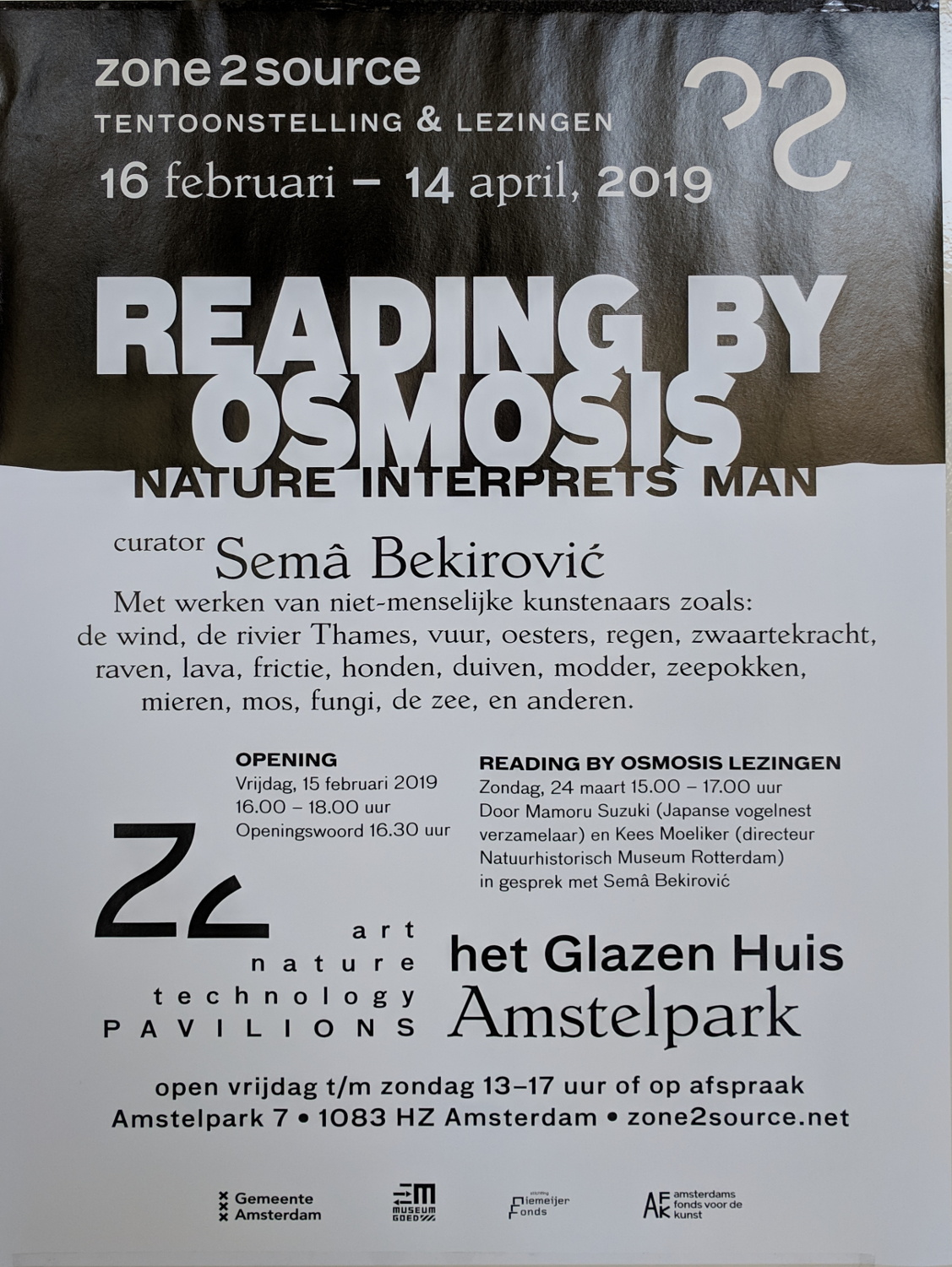 Reading by Osmosis exhibition poster