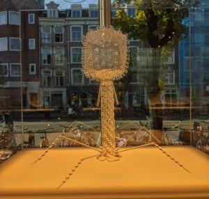 A glass bacteriophage